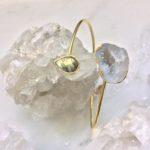 gold bangle white stone