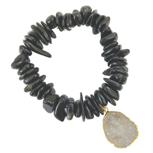 black gemstone bracelet