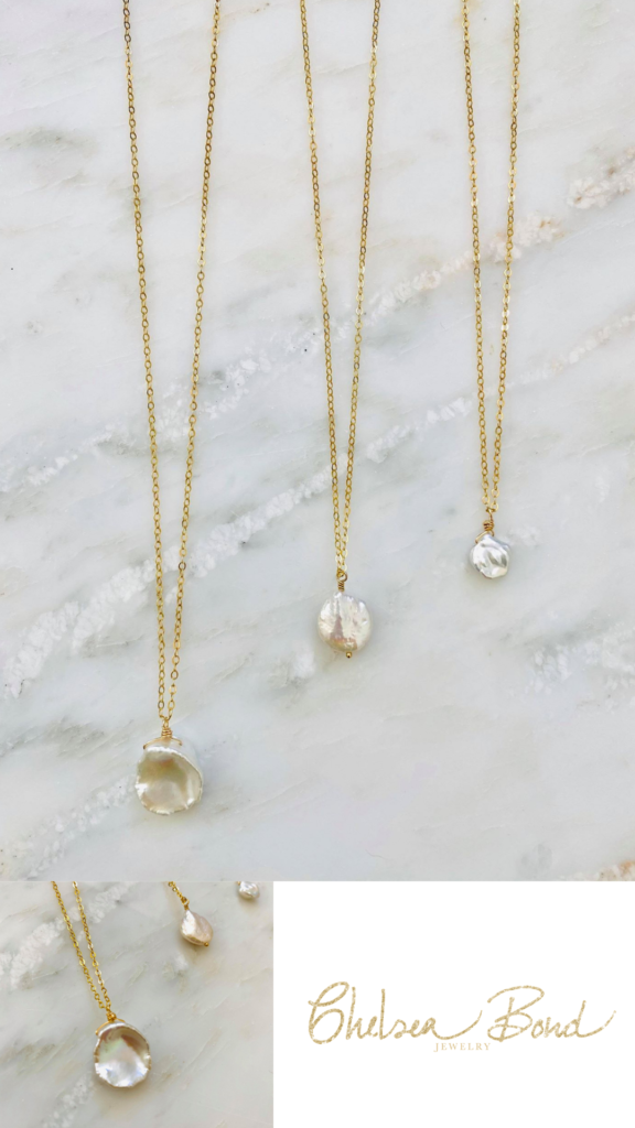 gold and pearl necklaces